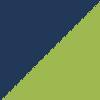 temno modra-fluorescentno zelena (07140)