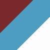 bordo rdeča-nebeško modra-bela (08600)